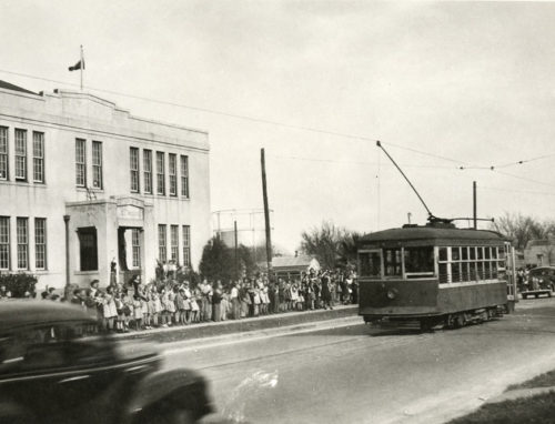 February 7, 1940, the last day of streetcar service in Austin.